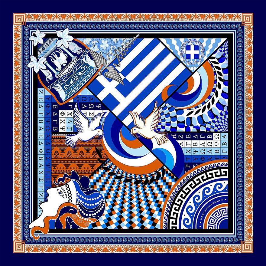 Με αφορμή τα 200 χρόνια από την Ελληνική Επανάσταση του 1821, Έλληνες και ξένοι σχεδιαστές εμπνέονται από την ιστορία και δημιουργούν μοναδικά κομμάτια αφιερωμένα στον αγώνα των Ελλήνων για ανεξαρτησία.
